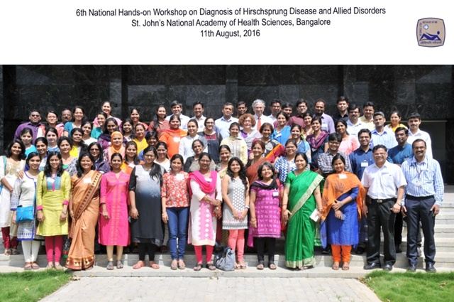 Aug 2016 : Report on St.John's -AIPNA International Paed Path Conference and 6th Hands-on Workshop on Hirschsprung's disease""