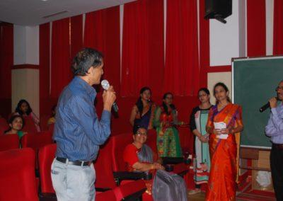 Delegates interacting