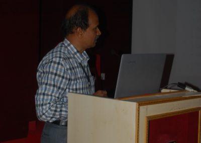 Dr CSBR Prasad delivering talk