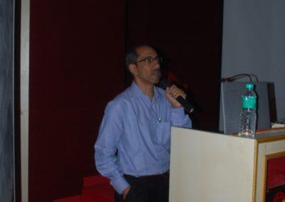 Dr KV Santhosh delivering talk