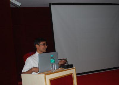 Dr Nandeesh delivering the talk