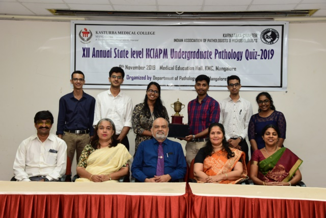 NOV 2019: REPORT OF XII STATE LEVEL ANNUAL KCIAPM PATHOLOGY UG QUIZ 2019